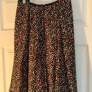 Liz Claiborne multi color polka dot skirt